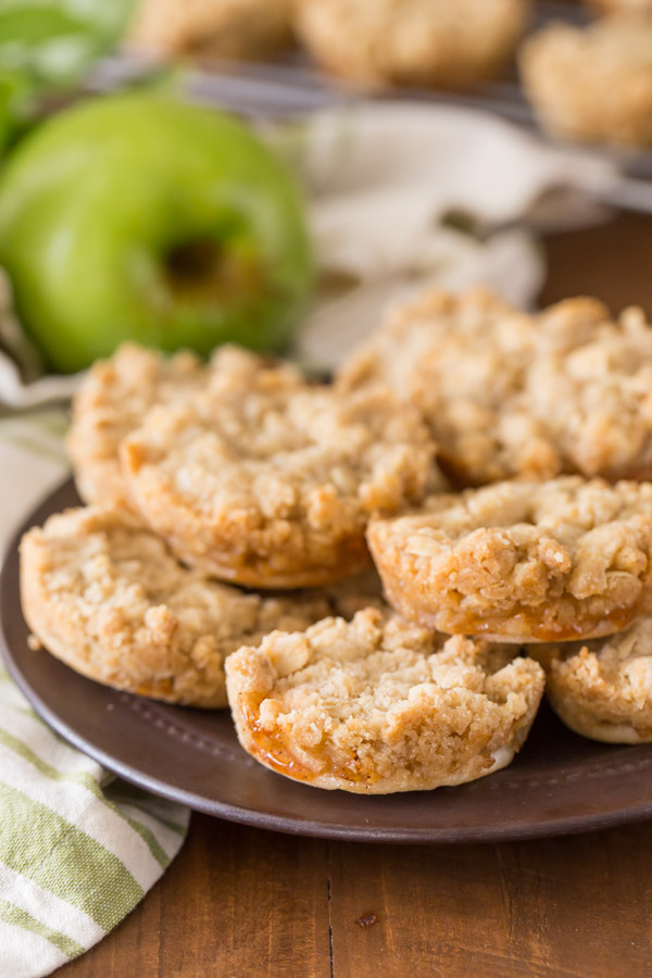 Dutch Apple Pie Cookies arranged on a small plate.