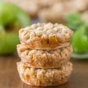 Dutch Apple Pie - The perfect little three bite dessert with a flakey pie crust, cinnamon apple filling, and a sweet buttery crumb topping!