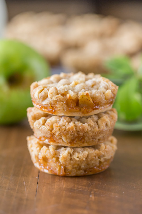 Three Dutch Apple Pie Cookies stacked on top of each other.