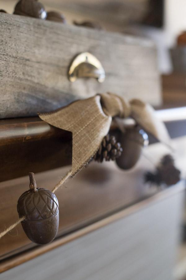 Wooden Acorn Garland