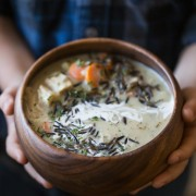 Creamy Chicken and Wild Rice Soup - So comforting, hearty and cozy, this is one of my favorite soup recipes of all time!