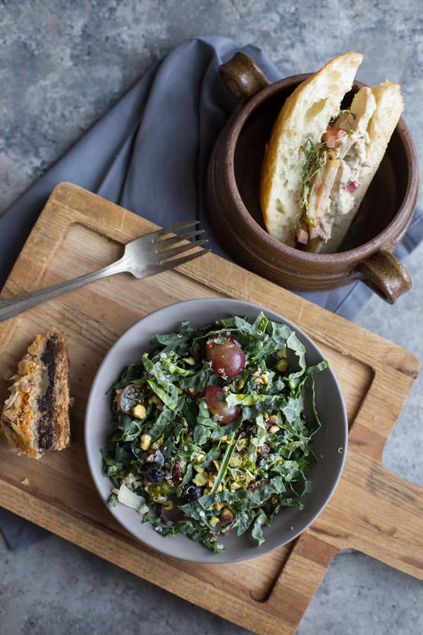 Kale Salad and Sandwich