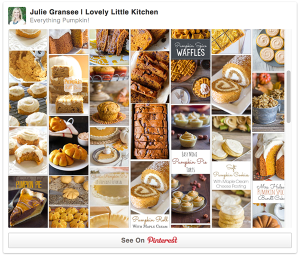 Pinterest Pumpkin Board
