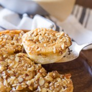 Almond Sticky Buns - Warm, buttery sweet rolls with a sticky almond caramel top! You will fall in love too!