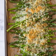Roasted Asparagus With Panko and Gruyere - A simple but holiday worthy dish that can be made quickly and easily. Perfect for spring time!