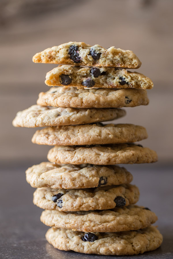 Blueberry White Chocolate Chip Cookies - Lovely Little Kitchen