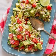 This salad is absolutely the best of summer on a platter! You will LOVE it!