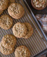 Bakery Style Oatmeal Raisin Cookies-3