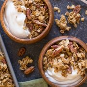 Like your favorite little cookie, but in granola form! The perfect make-ahead breakfast for the holidays.