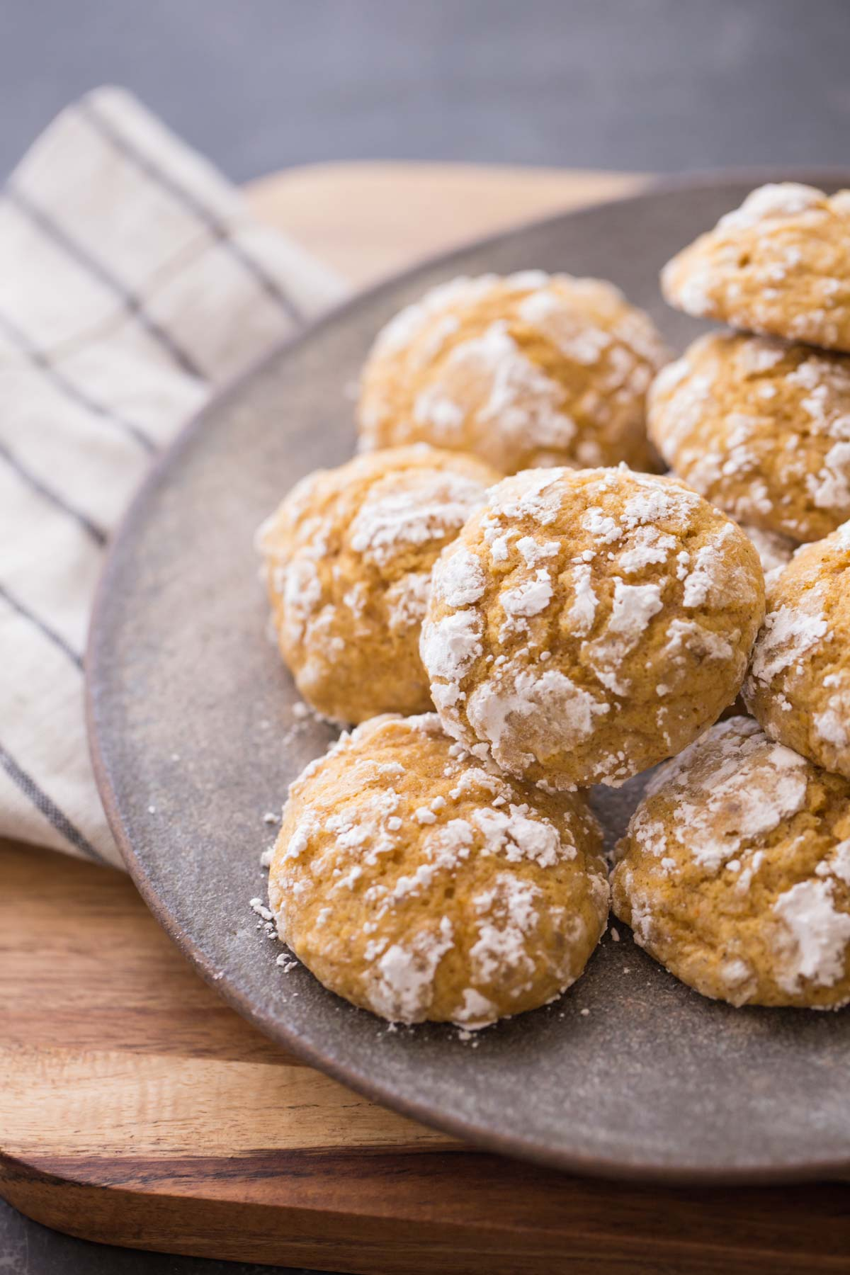 Soft Pumpkin Cookies on a plate.