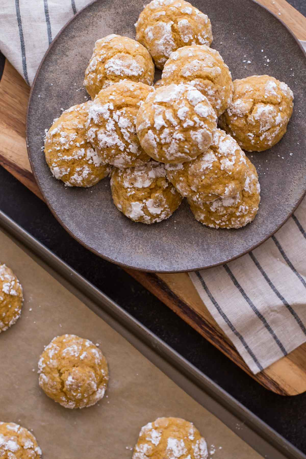 Soft Pumpkin Cookies on a plate.