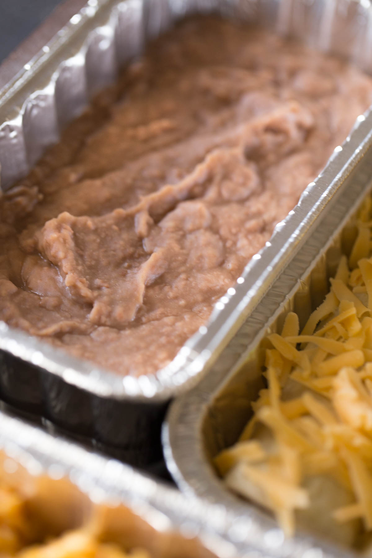 A pan of Healthy Crockpot Refried Beans.
