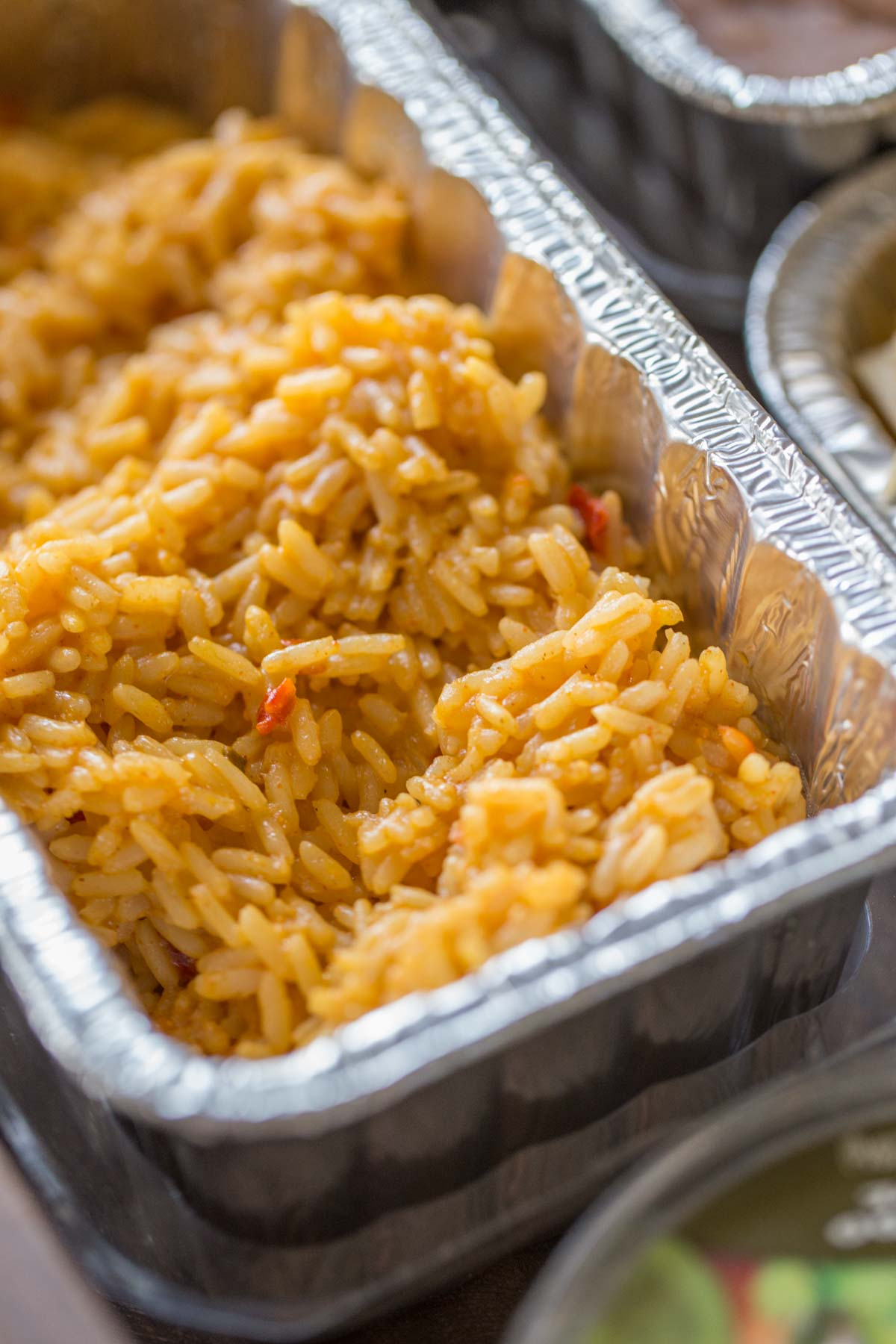 A pan of Spanish Rice.