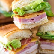These Ultimate Club Sandwiches for a crowd come together quickly and everyone loves them, especially with avocado and bacon! Bet they won't last long.