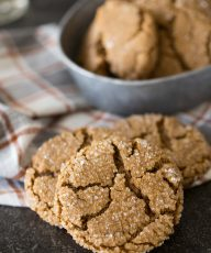 These Peanut Butter Molasses Cookies are thick, soft, and chewy in the middle with a crisp sugary exterior. They might just become a new holiday favorite!