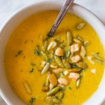 I've just found my cozy fall lunch sweet spot!  Creamy Cashew Pumpkin Soup, you are ALL THE THINGS I love about soup in one bowl!