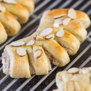 These Buttery Almond Bear Claws are a family tradition that I love. Who could resist that tender pastry with the sweet almond filling?