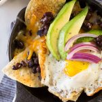 If you've ever dreamed of having chips and salsa for breakfast, these Breakfast Nacho Skillets are for you. The secret is definitely in that sauce!